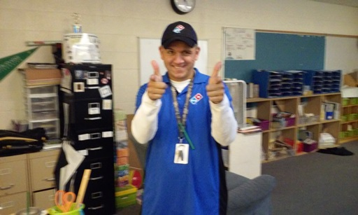 Mr. Garay seems fine with it as he gives two big thumbs up!